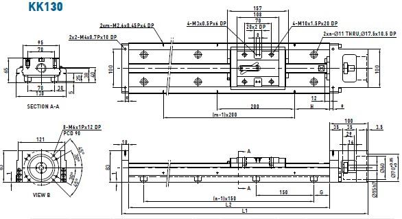 上银KK130线性模组图