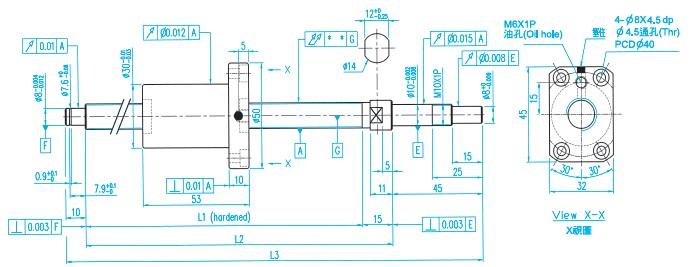 XSVR01210滚珠丝杠价格图