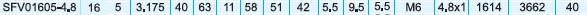 SFV1605滚珠丝杆尺寸表图