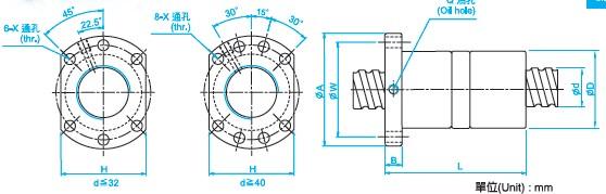 DFU10020滚珠丝杆尺寸图