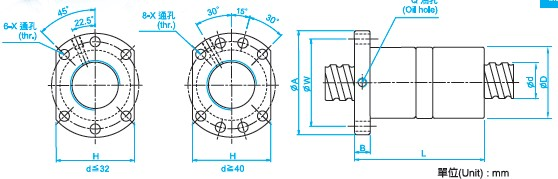 DFU2504滚珠丝杠图