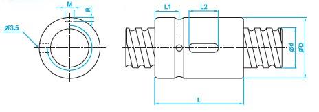 SCI4005滚珠丝杠尺寸图