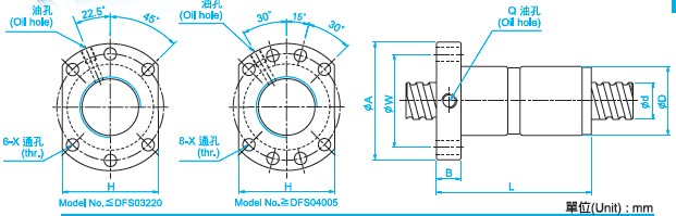 DFS2005滚珠丝杠图