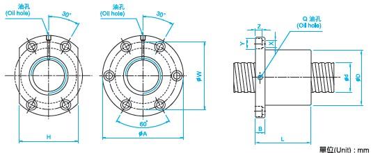 SFV1605滚珠丝杆螺母图